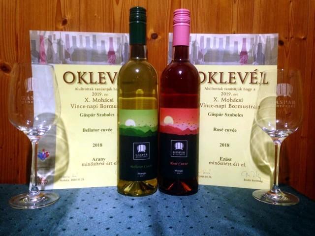 Arany és ezüst minősítésű borok a Gáspár Pinészetttől